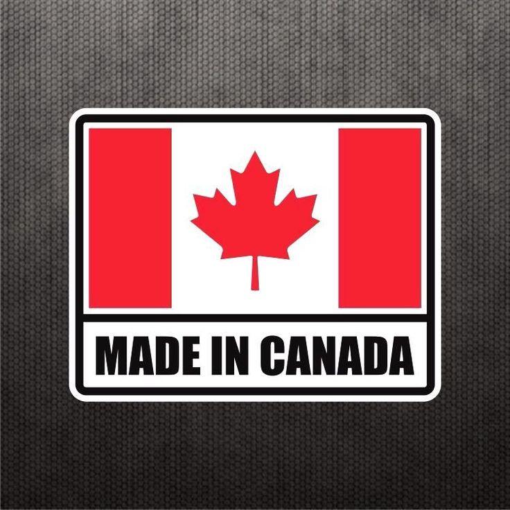 Made In Canada Flag Sticker Vinyl Decal Canadian Maple Leaf Sticker Car Sticker #3M