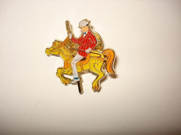 Disney Pin Trading Mary Poppins Commemorative Tin Set Bert on a Carousel Horse