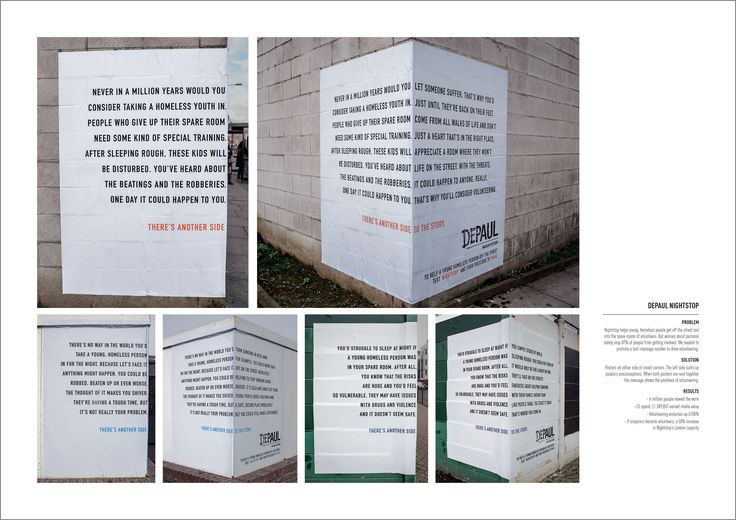 There's Another Side to the Story | Homeless Awareness Outdoor Street Posters Campaign  | Award-winning Graphic Design | D&AD