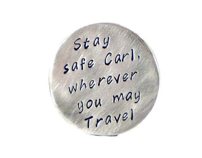 Stay Safe Custom Silver Golf Marker.