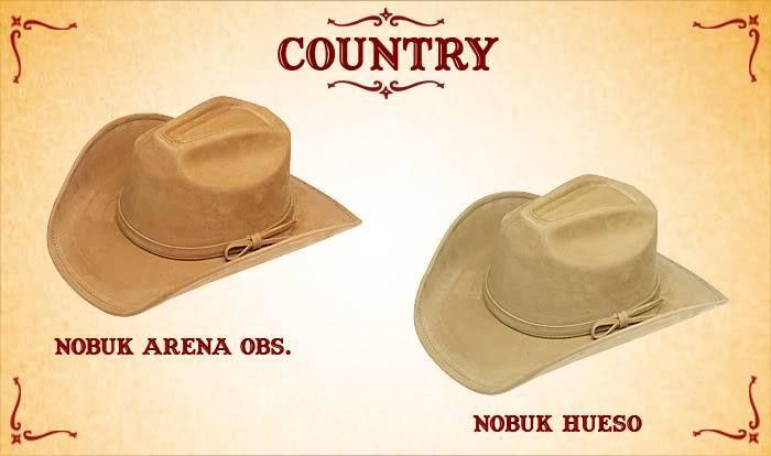 #Sombreros modelo country, arena y hueso