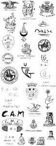 марки и клейма итальянская керамика CIVITA CASTELLANA 2