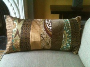 recycled tie arm bolster - Patwig's Blog
