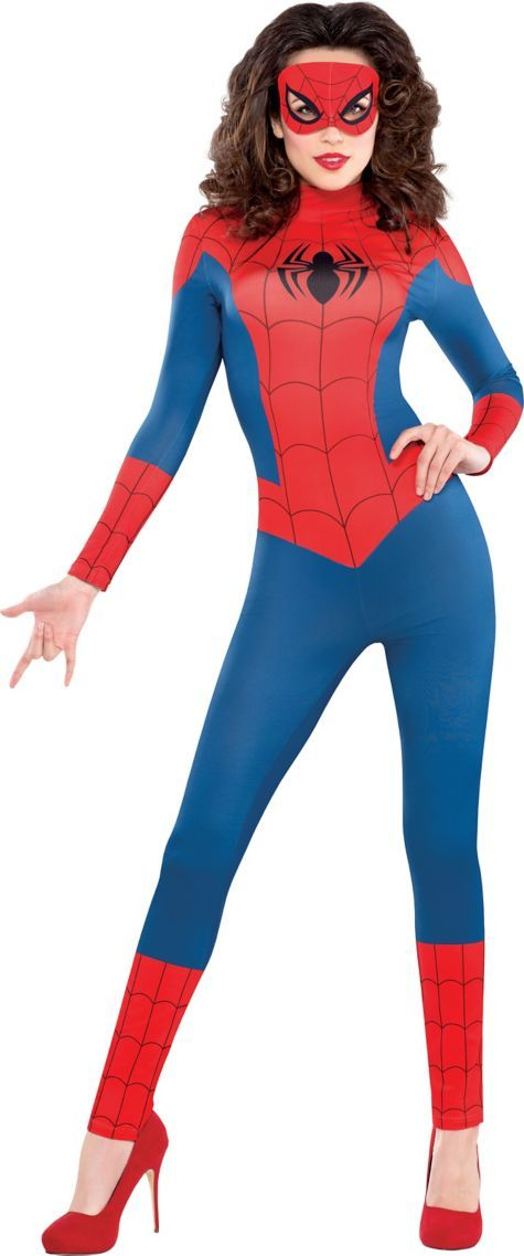 Adult Sexy Spidergirl Catsuit Costume ($49.99) - Party City