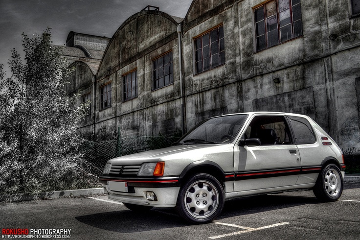 peugeot 205 gti near factory 205 gti 1 6 peugeot 205 pinterest design peugeot and factory. Black Bedroom Furniture Sets. Home Design Ideas