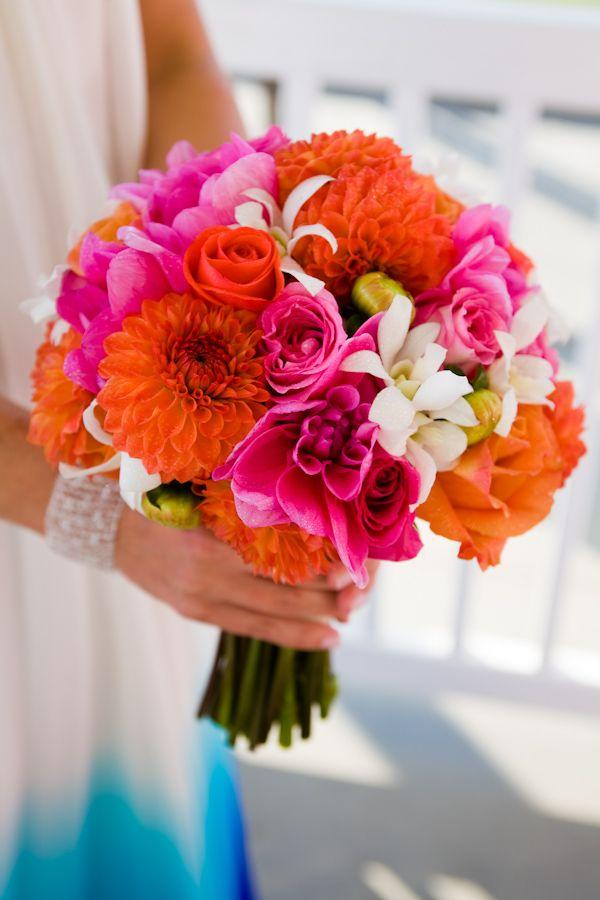 The 25 best bright wedding flowers ideas on pinterest for Bright wedding bouquet