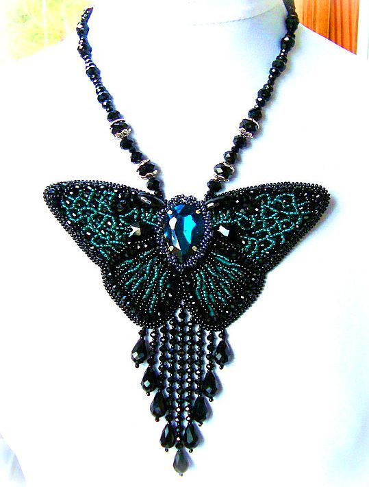 Beautiful beaded jewelry with butterflies | Beads Magic