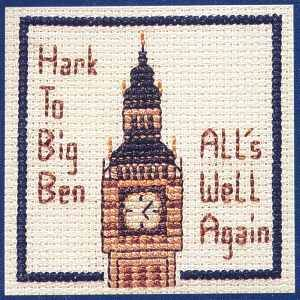 Big Ben Miniature Card Cross Stitch Kit By Textile Heritage