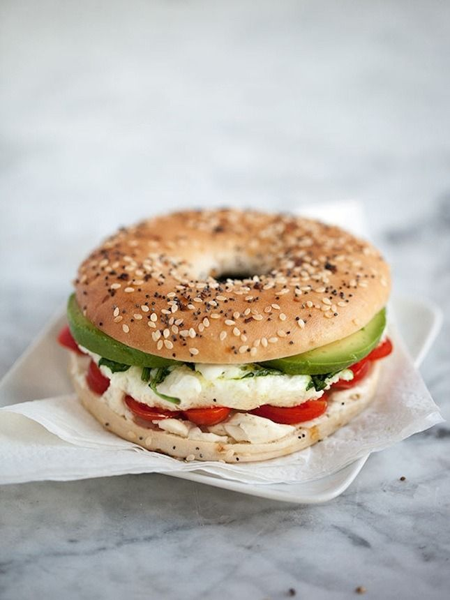 Fit in your protein & veggies with this easy Egg and Vegetable Bagel Sandwich recipe.