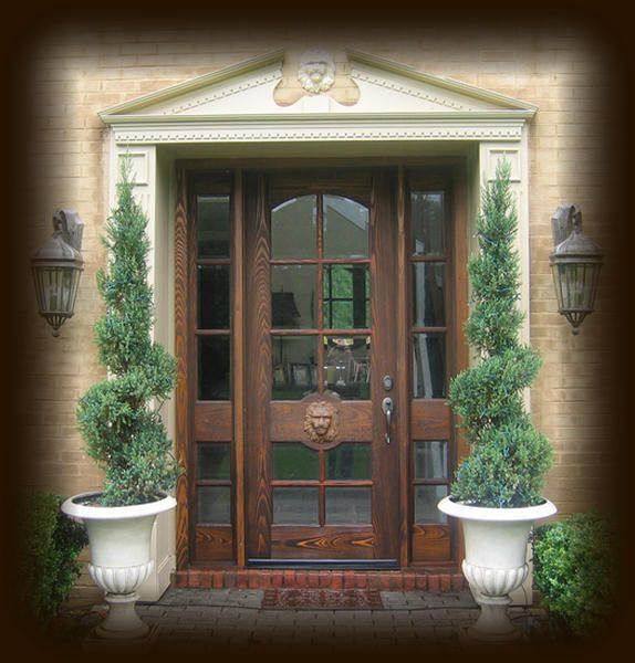 Front door entryway designs cypress exterior wood entry for Front door entrances
