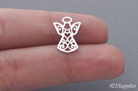 925 Sterling Silver Angel, angel pendant, angel charms, angel necklace, angel, guardian angel, guardian angel pendant, silver guardian angel