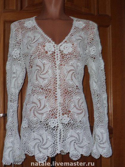 """Gallery.ru / Olga. Jacket """"Tenderness"""" - RM 531. Summer cardigan - Jasnaja"""