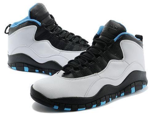 $129.97 310805-106 Men\u0027s Nike Air Jordan 10 Retro Powder Blue White-Black
