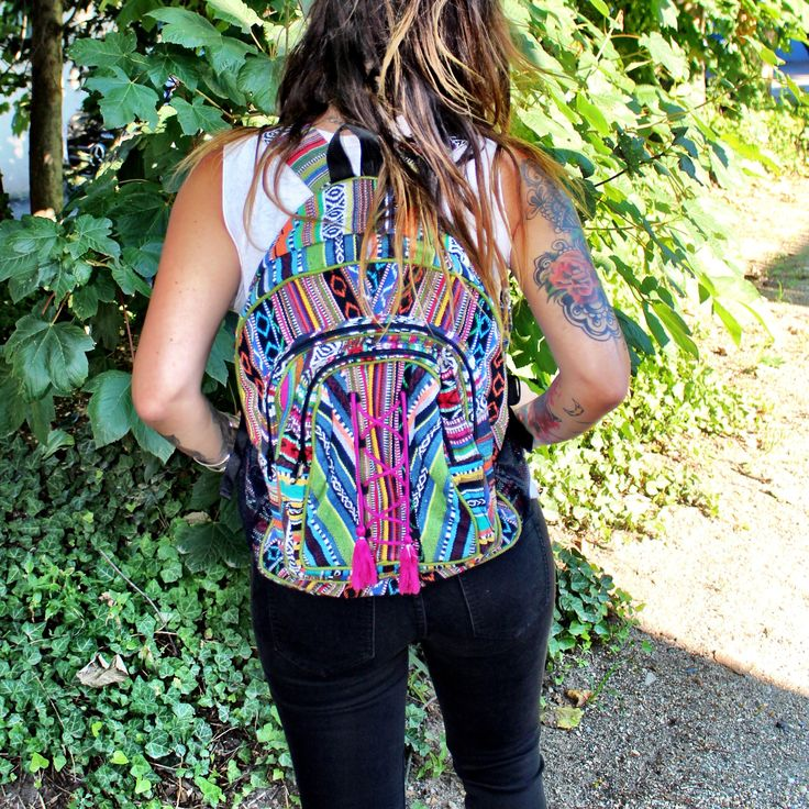 Lace Up Hippie Backpack