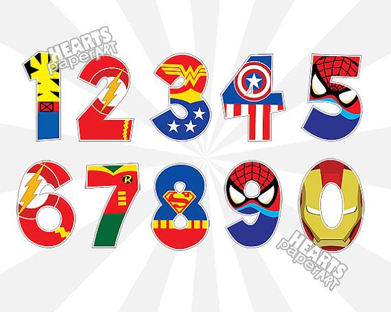 Superhero Alphabet Alphabet Clipart letters by HeartsPaperArt