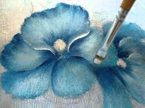 Pintura em tecido Eliane Nascimento: Amor perfeito Parte 2