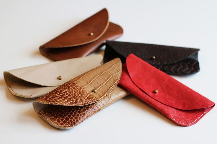 ETUI NA OKULARY ZE SKÓRY - BRĄZOWE - PMR-leathercraft - Etui na okulary