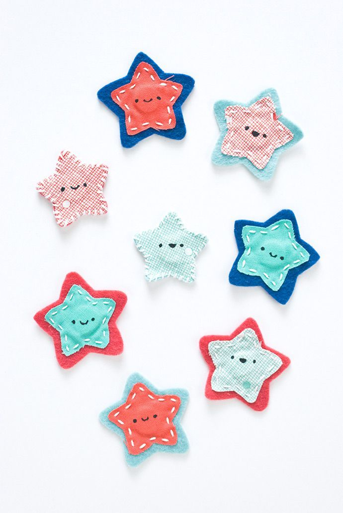 Make these fun magnets for the 4th of July, or any day you need some smiling stars on your fridge!