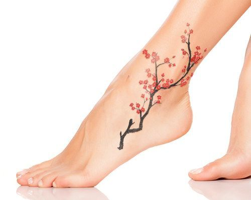 cherry blossom tattoo for women: