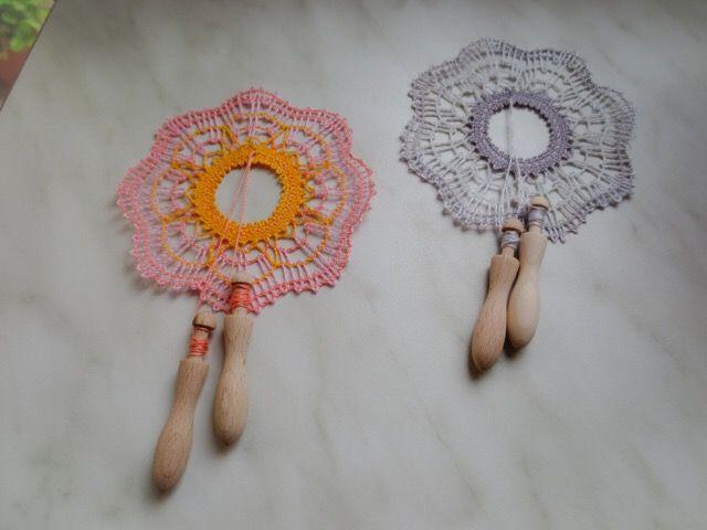 とろっちのビラデコンデ風のヘルドレ飾り。色も編み方もとてもよくできています。035/20170911