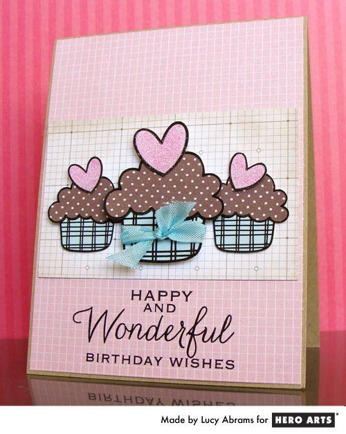Hero Arts Cardmaking Idea: Birthday Cupcakes