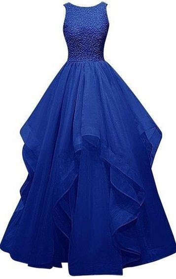 Long Prom Dresses,Royal Blue Prom Dresses,Ball Gown Prom Dresses, Pretty Prom…