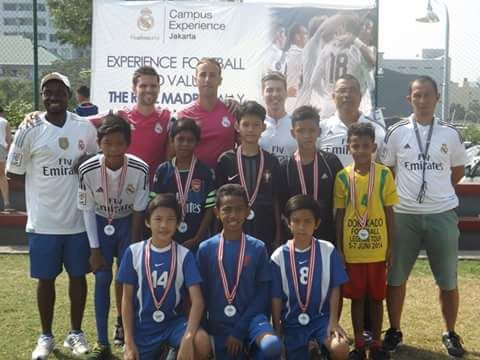 Real Madrid coaching clinic with   children from village Jakarta