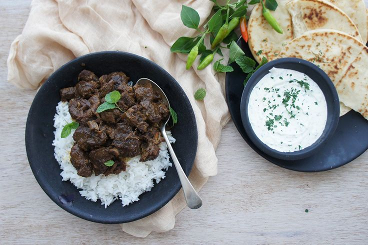 Delicious Pressure Cooked Lamb Curry made from scratch and cooked in 20 minutes!