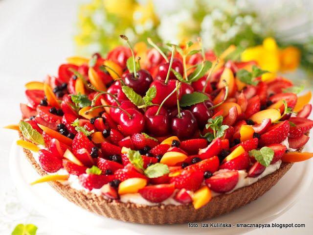 ciasto na lato, letnie ciasta, tarty, owoce sezonowe, letnie owoce, krem mascarpone, krem smietanowy, smaczna tarta z owocami, deser na lato, bez piekarnika