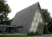 Bakkehaugen Church, Oslo, Norway. Ove Bang, Erling Viksjø architects.