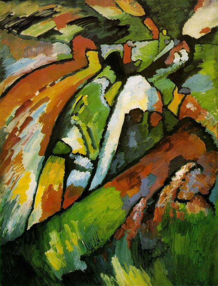 "VASSILIJ KANDINSKIJ ""Improvvisazione 7""  1910, olio su tela, 131x97 cm. Tretyakov Gallery, Mosca."