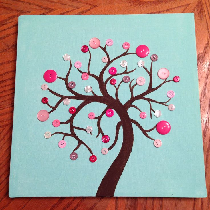 Button art tree I made for Emery!