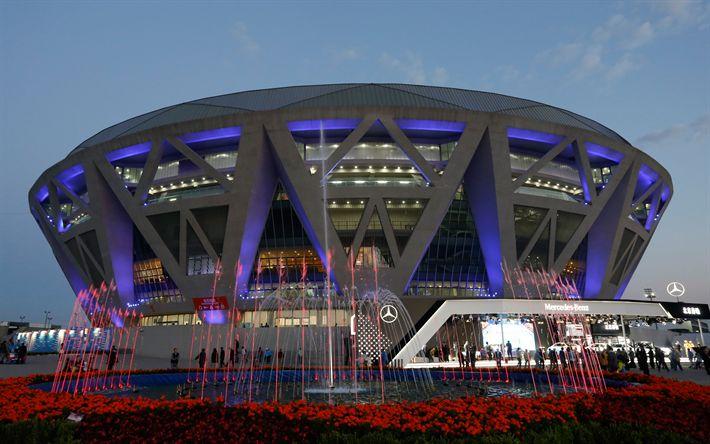 Download wallpapers Beijing, Diamond Court, China National Tennis Center, China, tennis arena, center court, modern stadium