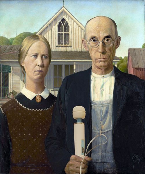American Hitachi by Grant Wood. The Hitachi Magic Wand Throughout Art History