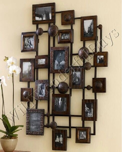 metal multi photo frame wall decor collage xl neiman marcus extra large new