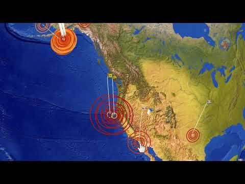 M5.8 & M5.1 Earthquakes California on Red Alert 25 Jan 2018