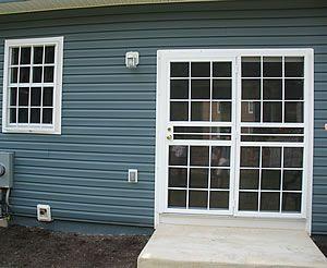 Security Storm Doors for double patio doors