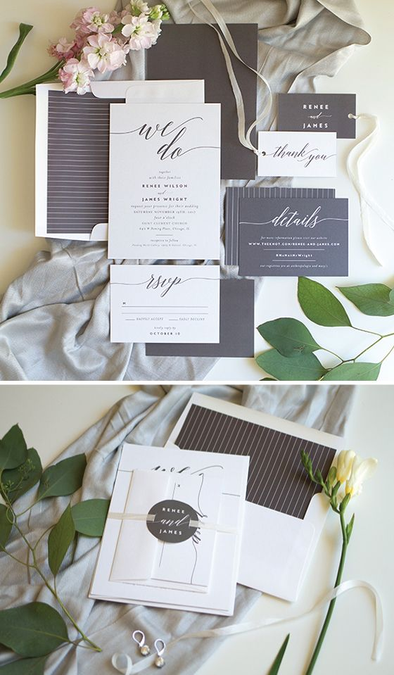 We Do Invitation Suite: Where classic meets modern