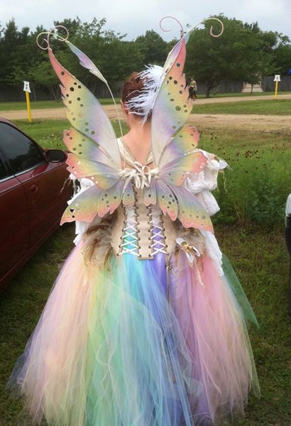 This would be cute on the ranch lady only with out the wings. I want more of a princess unicorn theme Fairy costume - Bubble fairy costume