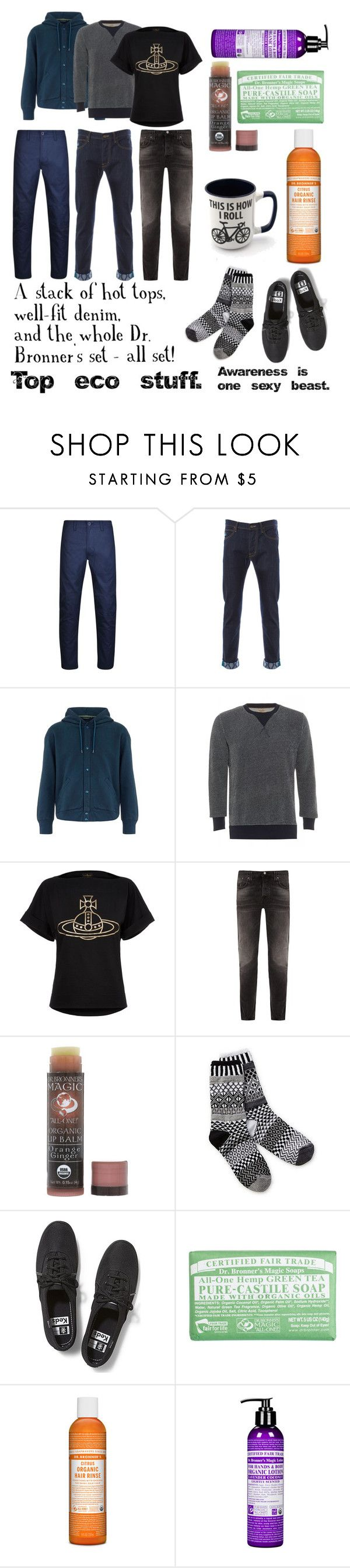 """(ECO) care, be aware, ensnare"" by yggdrasill ❤ liked on Polyvore featuring Maharishi, Paul Smith, Nudie Jeans Co., Dr. Bronner's, Sol Mate Socks, Keds, men's fashion and menswear"