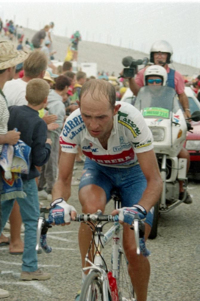 #MarcoPantani attacked the Mont Ventoux when the Tour crossed it in 1994