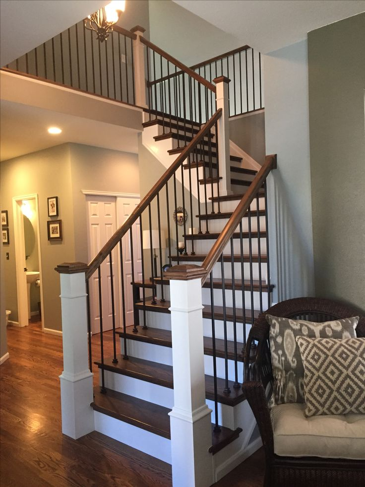 Modern Farmhouse Staircase Makeover Steps Red Oak With