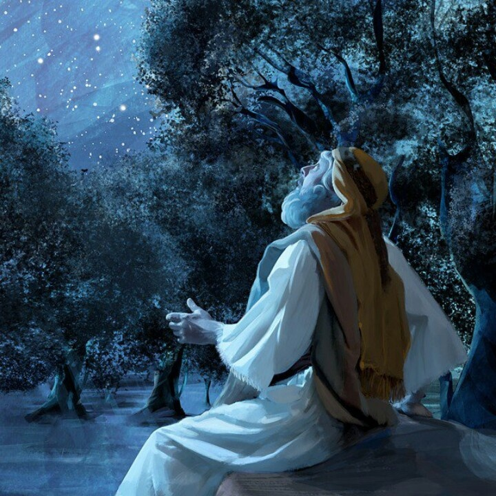 Image result for picture of moses looking at the stars