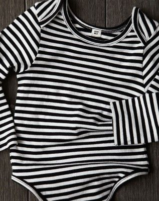 GOAT-MILK kidware | 100% organic cotton basics | long sleeve striped onesie