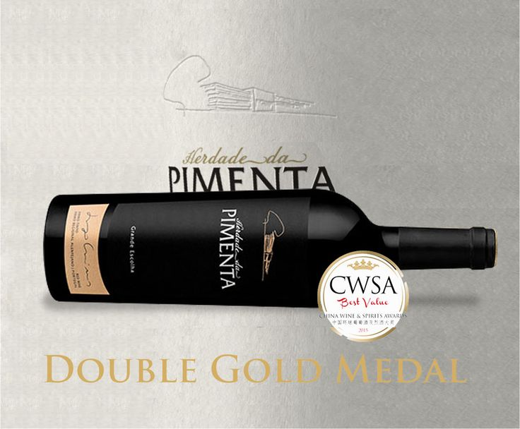 #saomiguelwines Pimenta Grande Escolha 2011 just won double Gold at #CWSA2015 (‪#‎China‬ Wine & Spirits Awards),