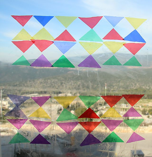 Coloured Glass Squares For Crafts