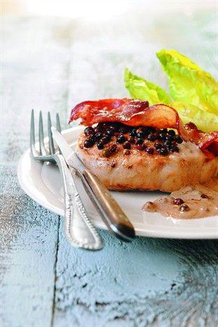 Pavés de dinde au poivre - Larousse Cuisine