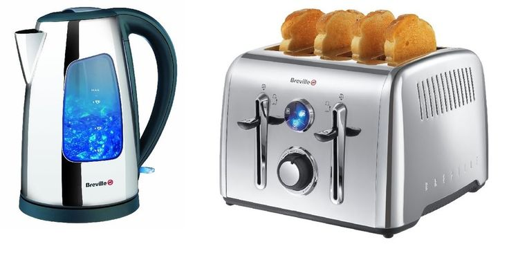 Breville Polished Stainless Steel Jug Kettle and 4 Slice Toaster Set 3KW 1.7L in Home, Furniture & DIY, Appliances, Coffee, Tea & Espresso Making | eBay!