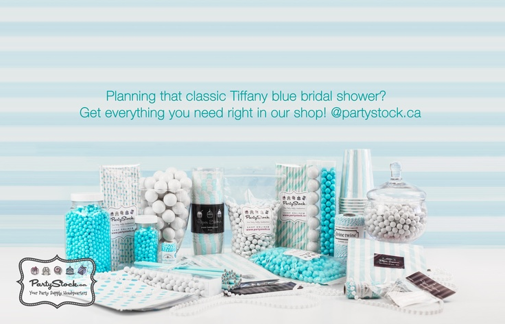 Everything you need for your #tiffany blue themed party!  www.partystock.ca
