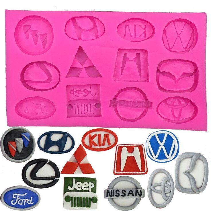 Car Brand Logos (Series 1) Silicone Mold